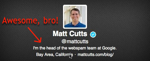 matt cutts twitter account