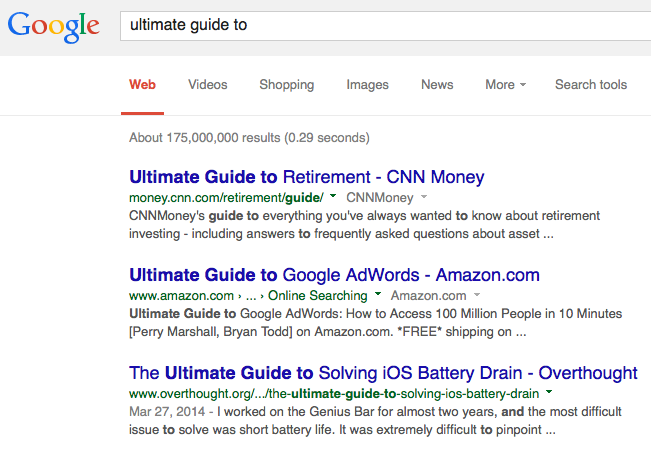 ultimate guide to - Google Search 2014-07-17 20-50-08