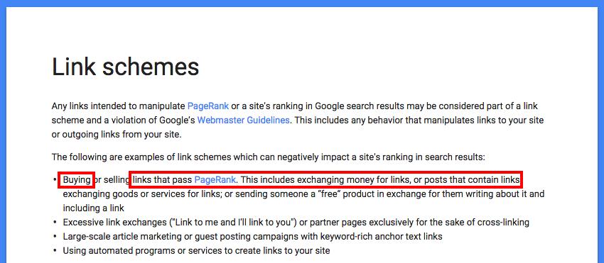 google link scheme