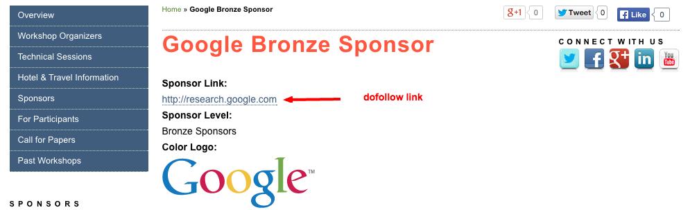 google sponsored link paid